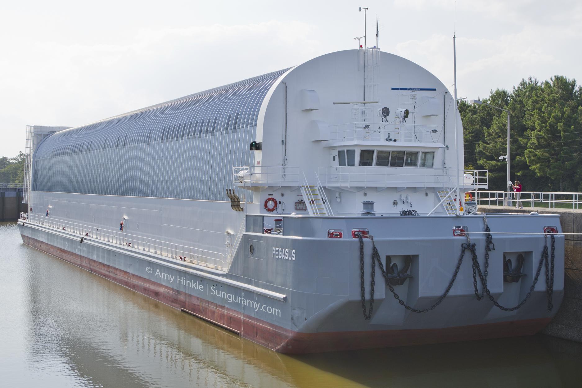 Ocean transport barge - For NASA